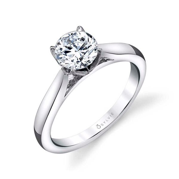 MODERN SOLITAIRE ENGAGEMENT RING - AUBREE Cottage Hill Diamonds Elmhurst, IL