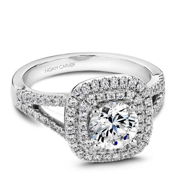 Round Diamond Double Halo Engagement Ring Cottage Hill Diamonds Elmhurst, IL