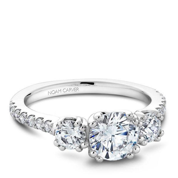 Round Three Stone Diamond Engagement Ring Cottage Hill Diamonds Elmhurst, IL