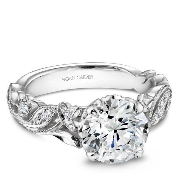 Round Diamond Floral Engagement Ring Cottage Hill Diamonds Elmhurst, IL