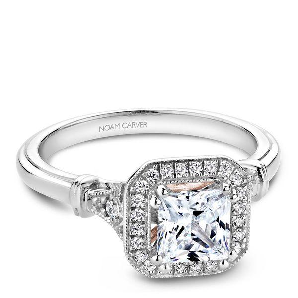 Princess Diamond Halo Engagement Ring Cottage Hill Diamonds Elmhurst, IL