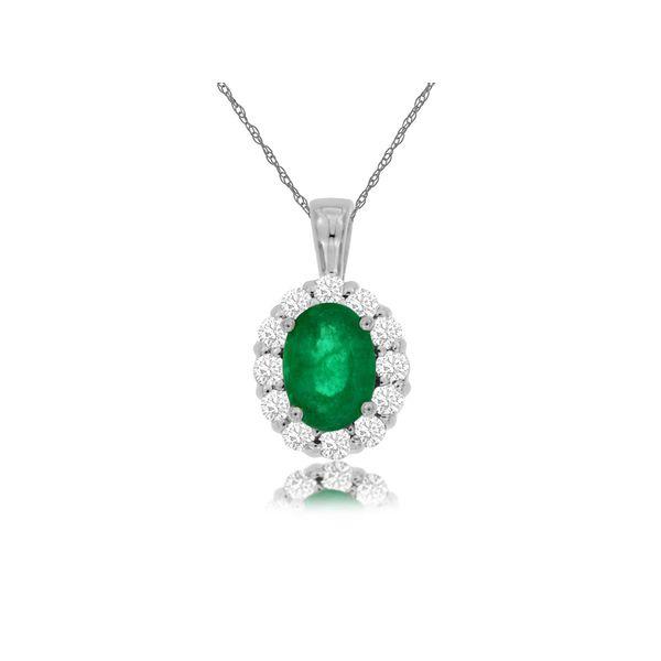 Emerald and Diamond Pendant Cottage Hill Diamonds Elmhurst, IL