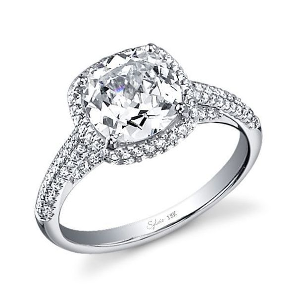 CLASSIC CUSHION CUT ENGAGEMENT RING WITH HALO Cottage Hill Diamonds Elmhurst, IL