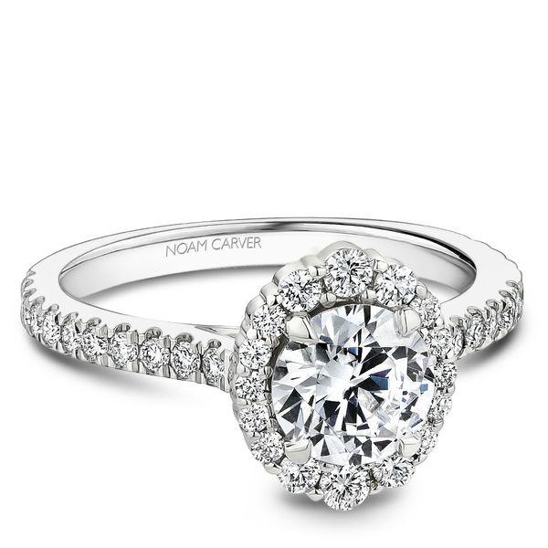 Round Diamond Halo Engagement Ring Cottage Hill Diamonds Elmhurst, IL