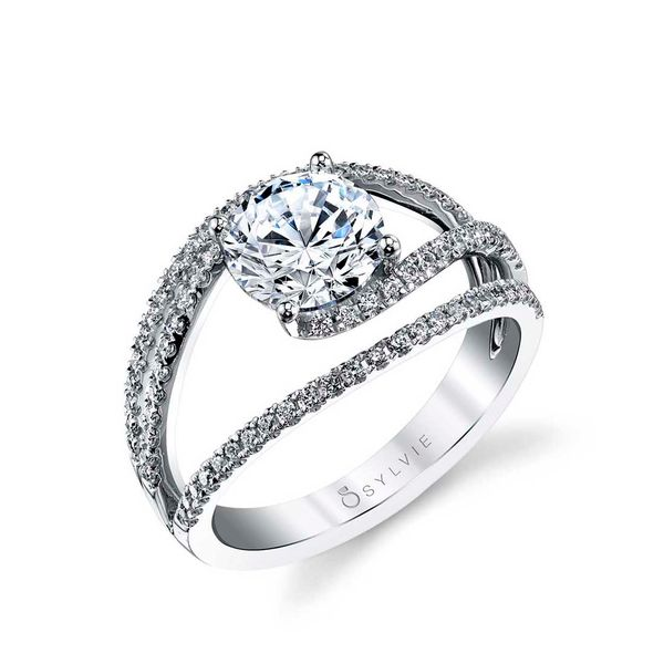 UNIQUE SPLIT SHANK ENGAGEMENT RING - CELIA Cottage Hill Diamonds Elmhurst, IL