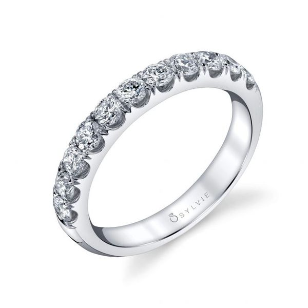CLASSIC WEDDING BAND WITH SHARED PRONGS Cottage Hill Diamonds Elmhurst, IL