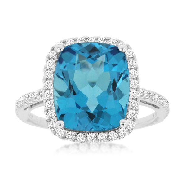BLUE TOPAZ & DIAMOND RING Cottage Hill Diamonds Elmhurst, IL