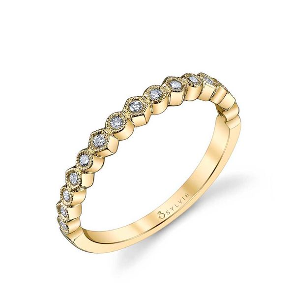 YELLOW GOLD STACKABLE WEDDING BAND - JUSTINE Cottage Hill Diamonds Elmhurst, IL