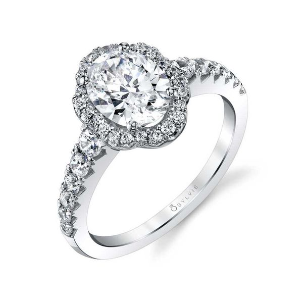 OVAL ENGAGEMENT RING WITH HALO - PENELOPE Cottage Hill Diamonds Elmhurst, IL