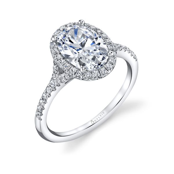 OVAL ENGAGEMENT RING WITH HALO - ALEXANDRA Cottage Hill Diamonds Elmhurst, IL