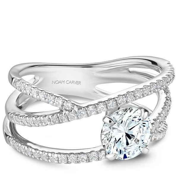 Round Diamond Contemporary Engagement Ring Cottage Hill Diamonds Elmhurst, IL