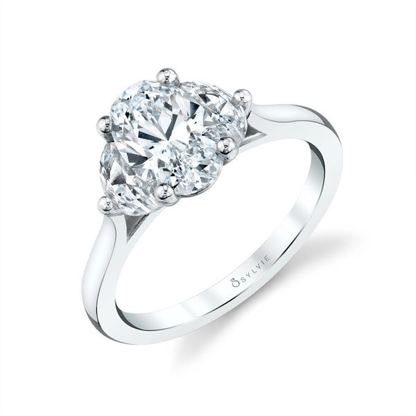 THREE STONE ENGAGEMENT RING - MELISANDRE Cottage Hill Diamonds Elmhurst, IL
