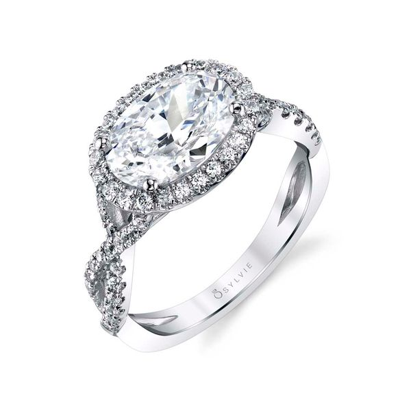 OVAL ENGAGEMENT RING WITH HALO - SCARLETT Cottage Hill Diamonds Elmhurst, IL