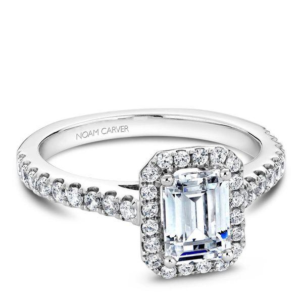 Emerald Diamond Halo Engagement Ring Cottage Hill Diamonds Elmhurst, IL