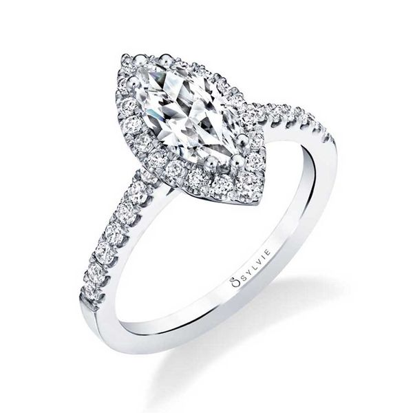 MARQUISE ENGAGEMENT RING WITH HALO - EMMA Cottage Hill Diamonds Elmhurst, IL