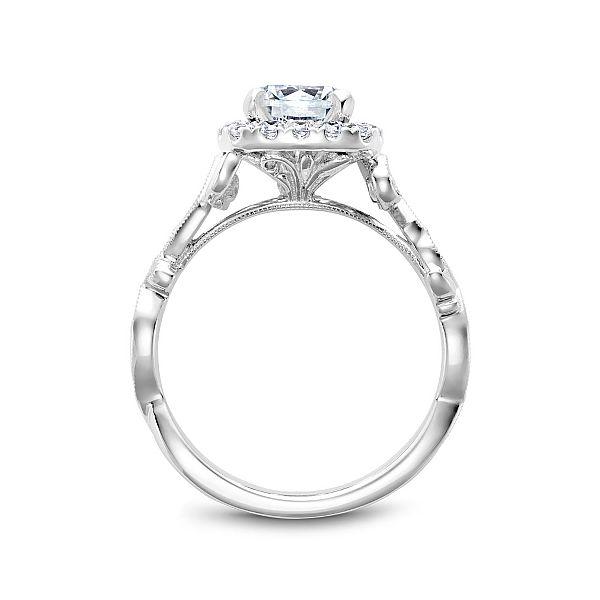Round Diamond Halo Engagement Ring Image 3 Cottage Hill Diamonds Elmhurst, IL