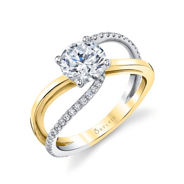 SPLIT BAND ENGAGEMENT RING - FLAVIA Cottage Hill Diamonds Elmhurst, IL