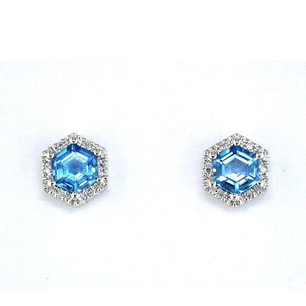 BLUE TOPAZ & DIAMOND EARRING Cottage Hill Diamonds Elmhurst, IL