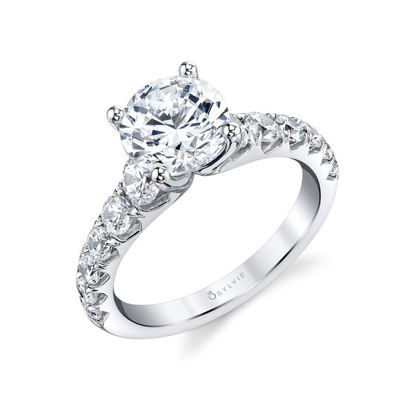 WIDE BAND ENGAGEMENT RING - ANDREA Cottage Hill Diamonds Elmhurst, IL