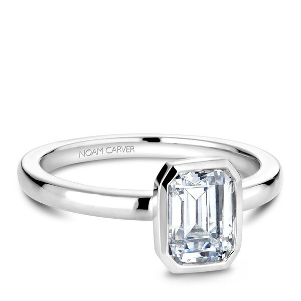 Emerald Diamond Solitaire Engagement Ring Cottage Hill Diamonds Elmhurst, IL