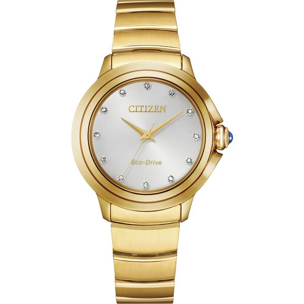 Ladies Ceci Goldtone Citizen Watch with White Dial Coughlin Jewelers St. Clair, MI