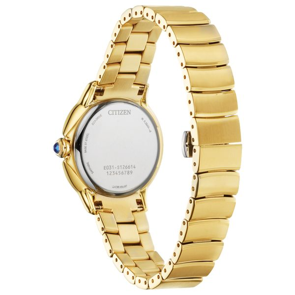 Ladies Ceci Goldtone Citizen Watch with White Dial Image 3 Coughlin Jewelers St. Clair, MI