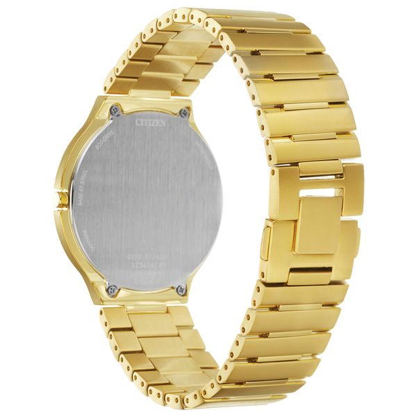 Stiletto Men's / Ladies Citizen Watch Goldtone with Black Dial Image 3 Coughlin Jewelers St. Clair, MI
