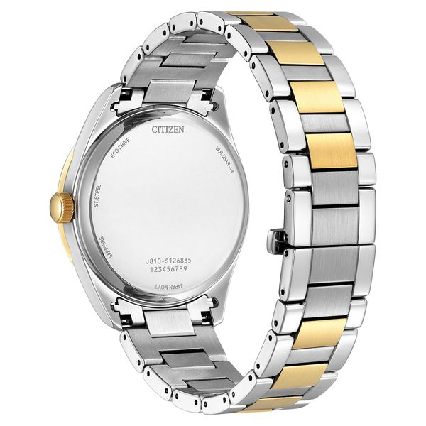 Men's Arezzo Two Tone Citizen Watch with White Dial Image 3 Coughlin Jewelers St. Clair, MI
