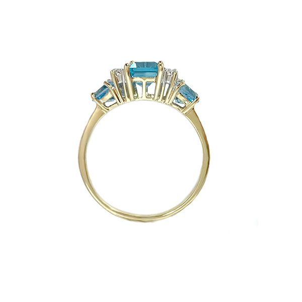 Blue Topaz Ring Image 2 Coughlin Jewelers St. Clair, MI