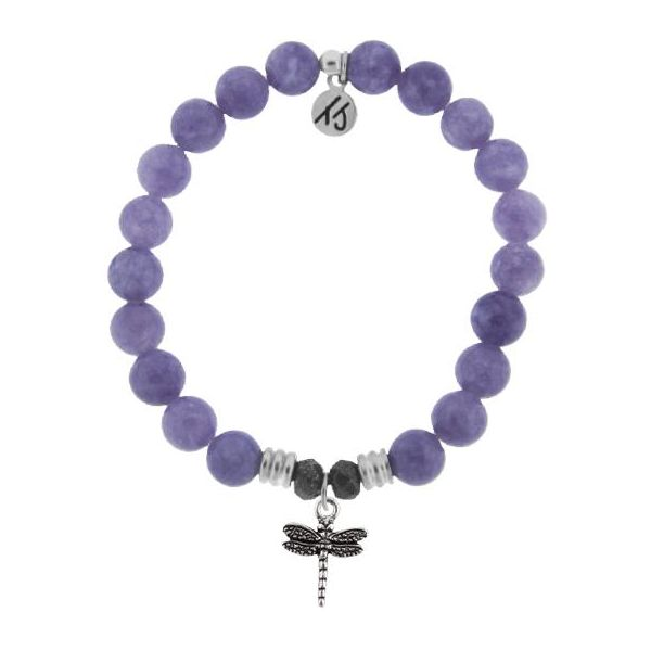 Purple Jade with Dragonfly