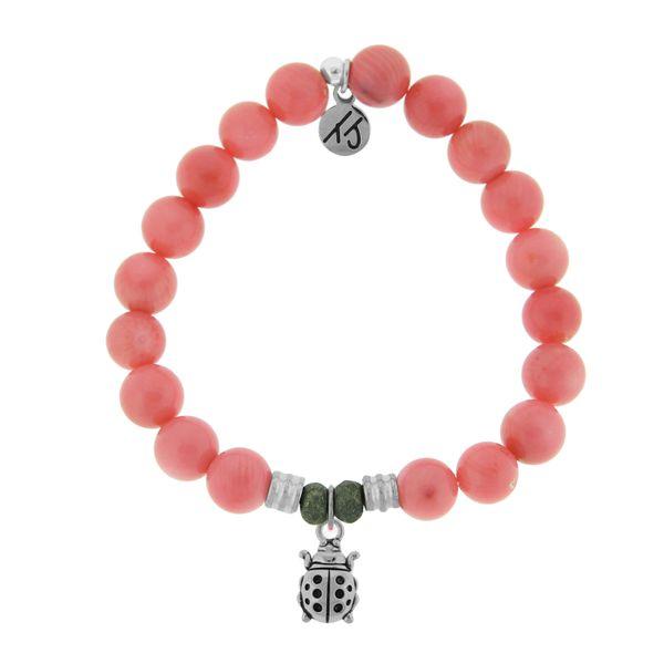 Pink Coral with Ladybug
