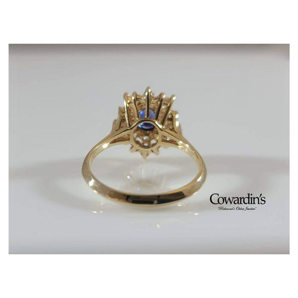 EST-1926 Sapphire and Diamond Ring