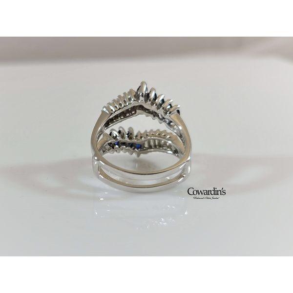 EST-1672 Sapphire and Diamond Jacket Enhancer Ring