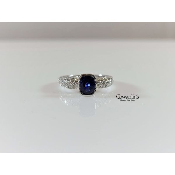EST-1848 Sapphire and Diamond Ring