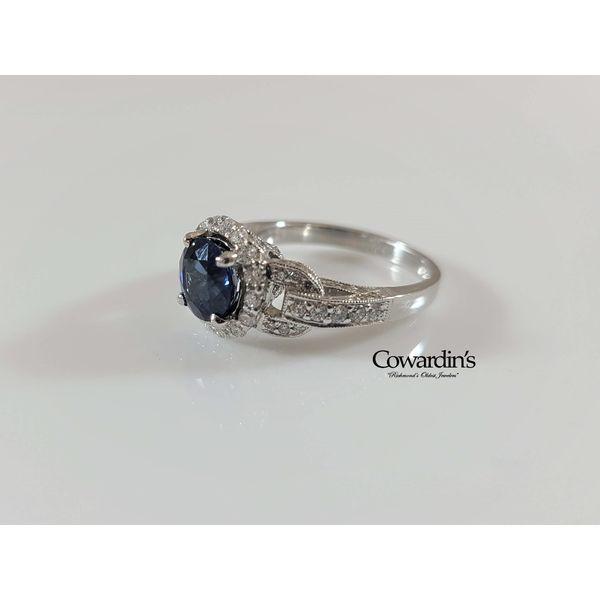 EST-1903 Sapphire and Diamond Ring
