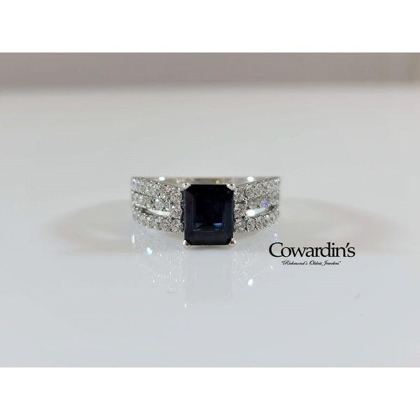 EST-1580 Sapphire and Diamond Ring