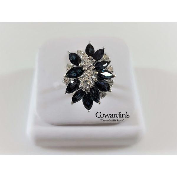 EST-2055 Sapphire and Diamond Ring