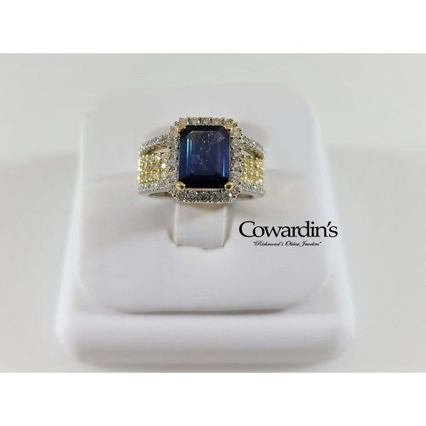 EST-1523 Sapphire and Diamond Ring