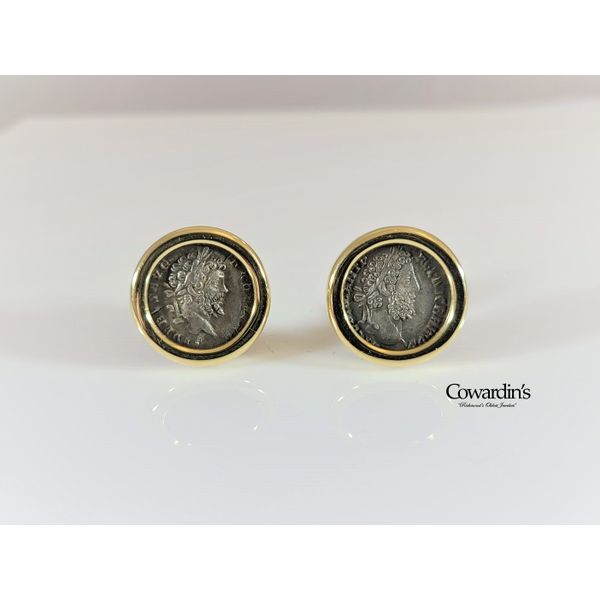EST-1847 Roman Coin Earrings
