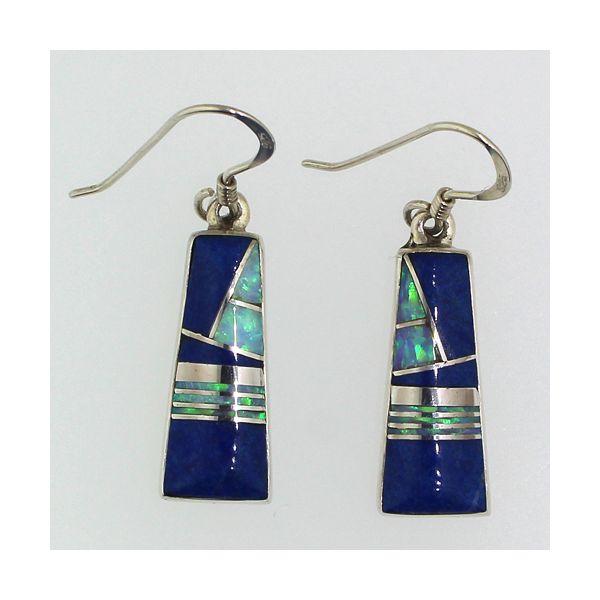 Lapis and Synthetic Opal Earrings Darrah Cooper, Inc. Lake Placid, NY