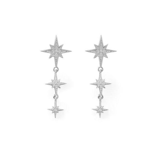 Cubic Zirconia Star Earrigs Darrah Cooper, Inc. Lake Placid, NY