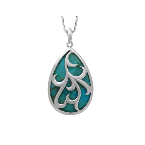 Turquoise Swirl Necklace Darrah Cooper, Inc. Lake Placid, NY
