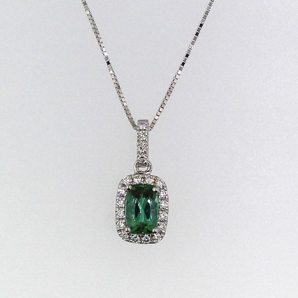 Green Tourmaline and Diamond Necklace Darrah Cooper, Inc. Lake Placid, NY