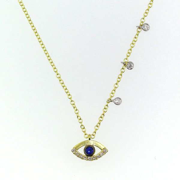 Sapphire and Diamond Evil Eye Necklace Darrah Cooper, Inc. Lake Placid, NY
