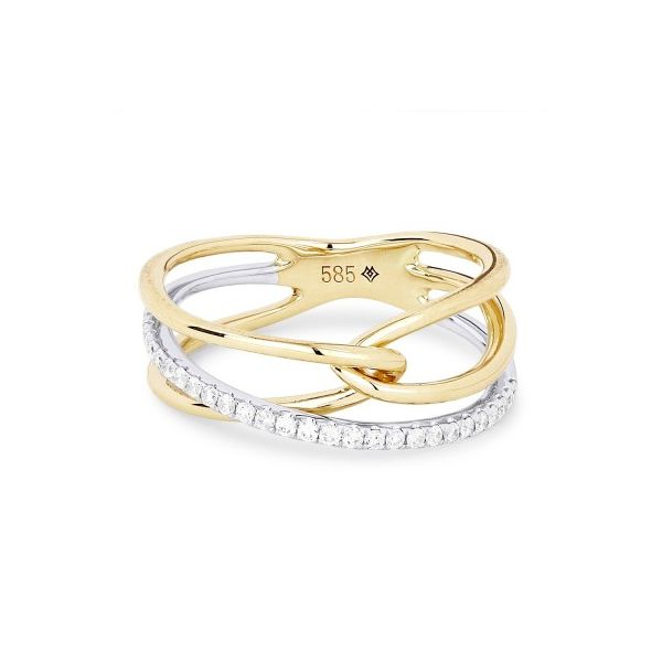 Gold and Diamond Intertwined Ring Darrah Cooper, Inc. Lake Placid, NY