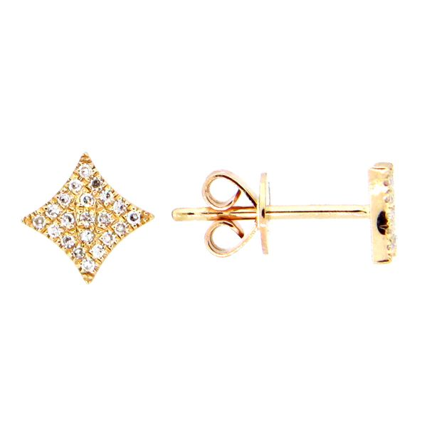 Pave Diamond Star Earrings Darrah Cooper, Inc. Lake Placid, NY