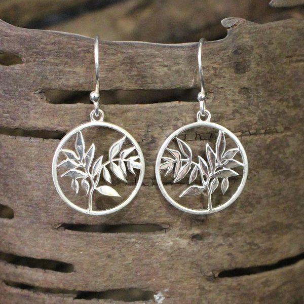 Circle Leaf Earrings Image 2 Darrah Cooper, Inc. Lake Placid, NY
