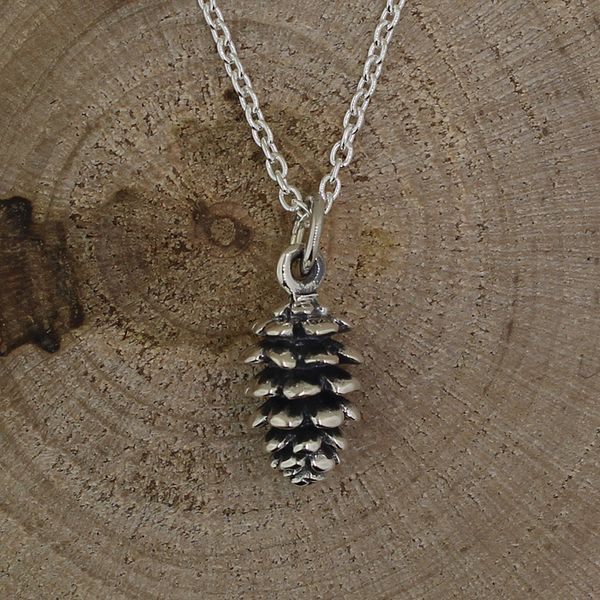Pine Cone Necklace (Antiqued-Small) Darrah Cooper, Inc. Lake Placid, NY