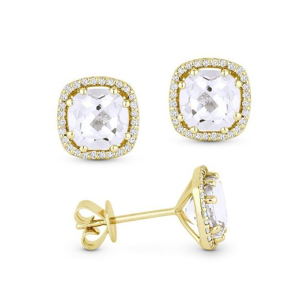 White Topaz and Diamond Earrings Darrah Cooper, Inc. Lake Placid, NY