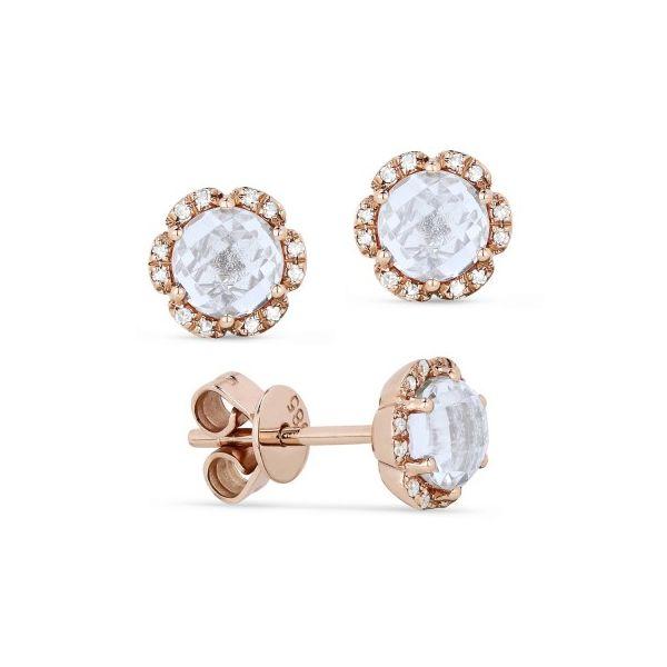White Topaz and Diamond Earrings Image 2 Darrah Cooper, Inc. Lake Placid, NY